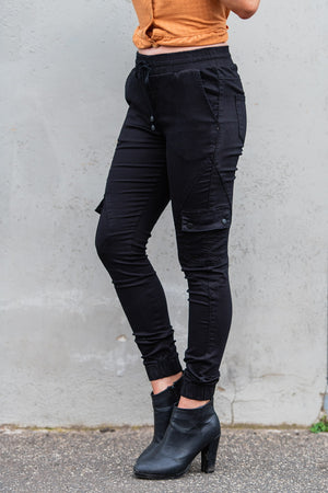 Load image into Gallery viewer, Country Denim Black Ladies Jogger