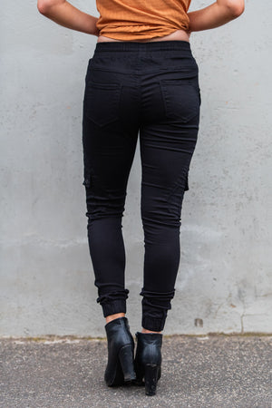 Load image into Gallery viewer, Country Denim Australia Cuff Black Cargo Jogger