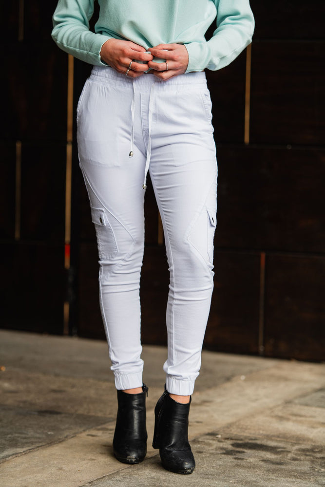 Country Denim Australia Cuff White Cargo Jogger