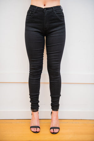 Load image into Gallery viewer, Country Denim Australia Black Plain Jean - Full Length Skinny