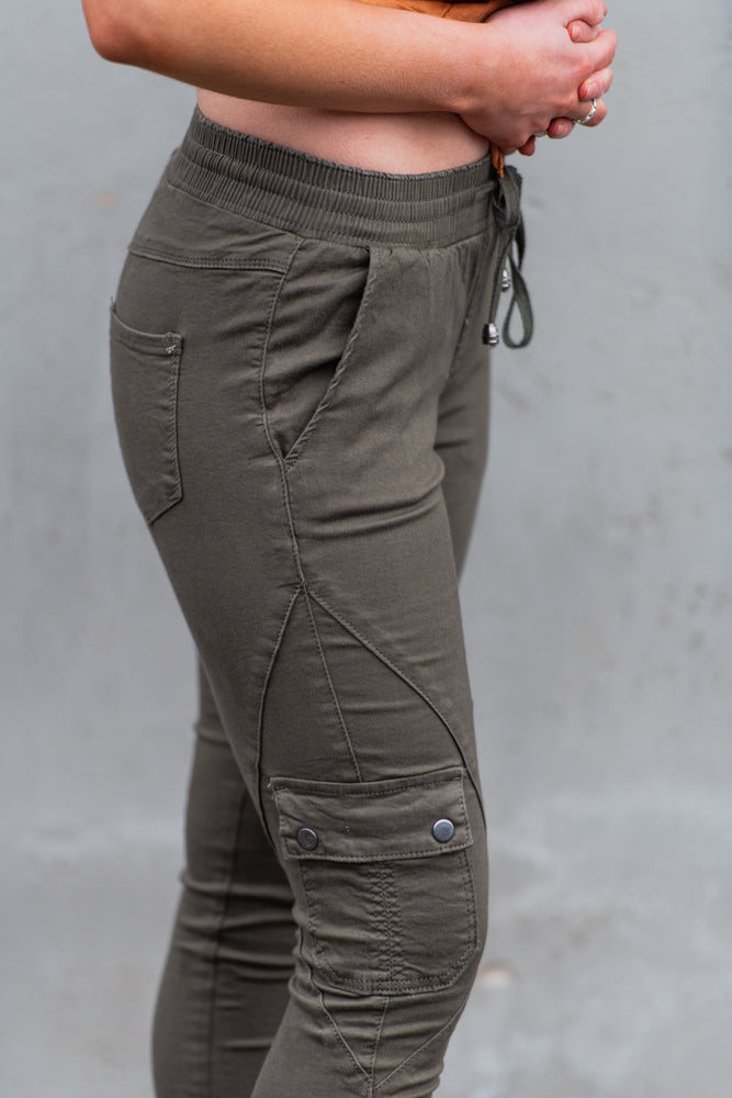 Load image into Gallery viewer, Country Denim Australia Cuff Cargo Khaki Jogger (Best Seller)
