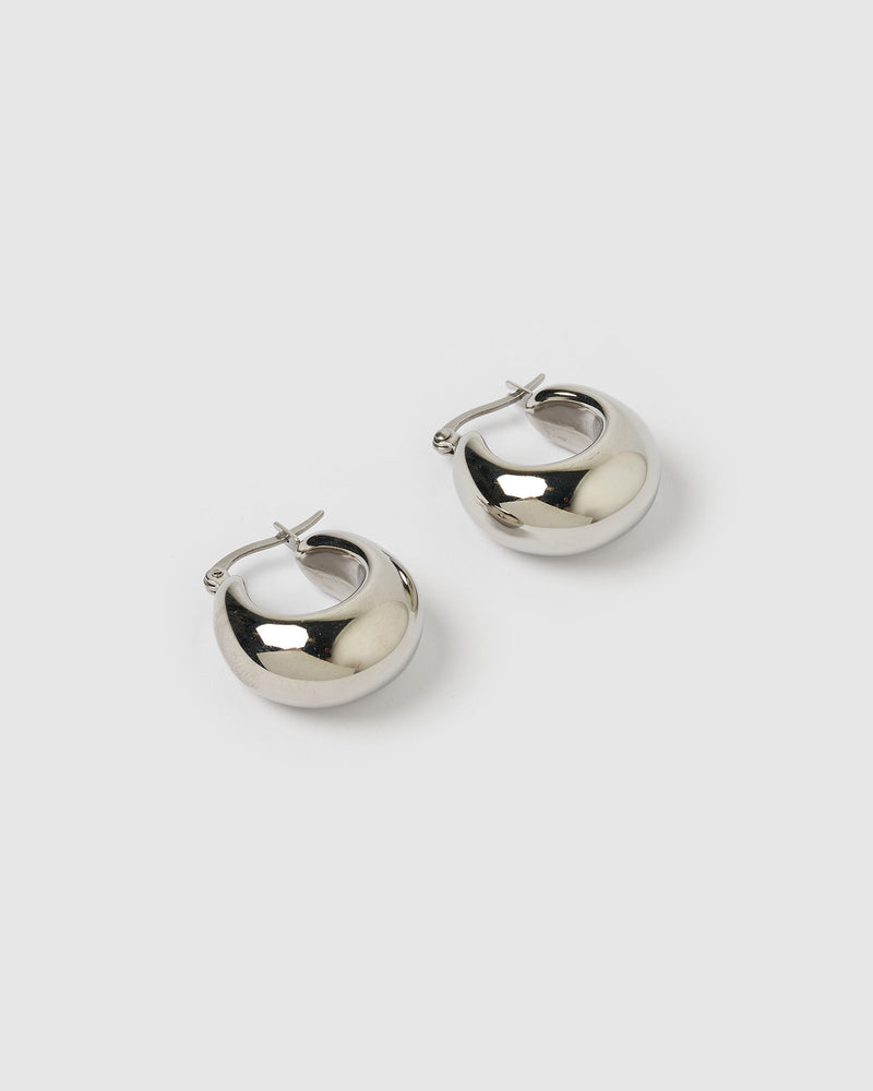 Izoa Fiu Hoop Earrings Silver