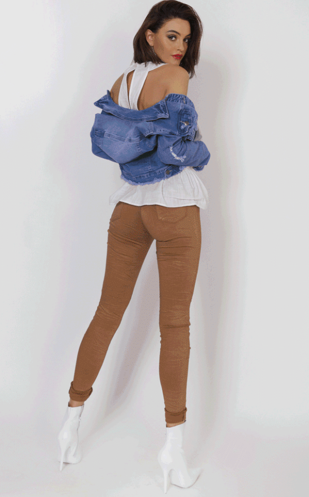 Refuge Rust Denim Jeans - Gelato Legs (Super Stretch - HIGH RISE)