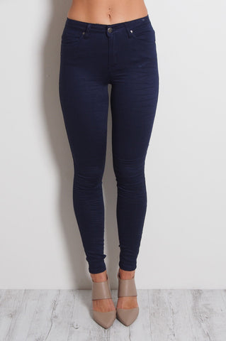 Navy Denim Jeans