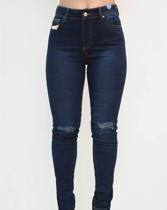 Refuge Denim Jeans Ripped Indigo