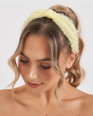 Load image into Gallery viewer, Izoa Adaline Headband Lemon