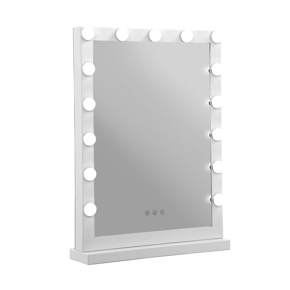 Embellir Hollywood Makeup Mirror With Light 15 LED Bulbs Vanity Lighted Stand
