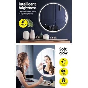 Load image into Gallery viewer, Embellir LED Wall Mirror Bathroom Light 80CM Decor Round decorative Mirrors
