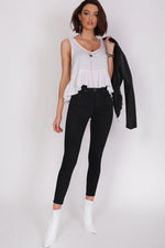 Refuge Denim Clothing Black Onyx 7/8 Gelato Leg Jean HIGH RISE