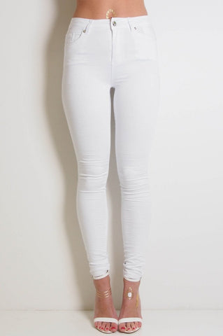 Gelato Legs - White Skinny Leg Jeans by Refuge Denim
