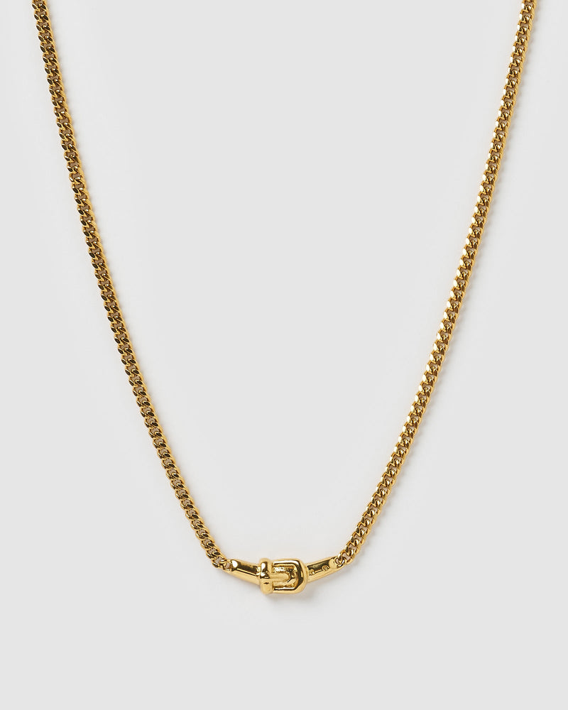 Izoa Rodeo Choker Necklace Gold