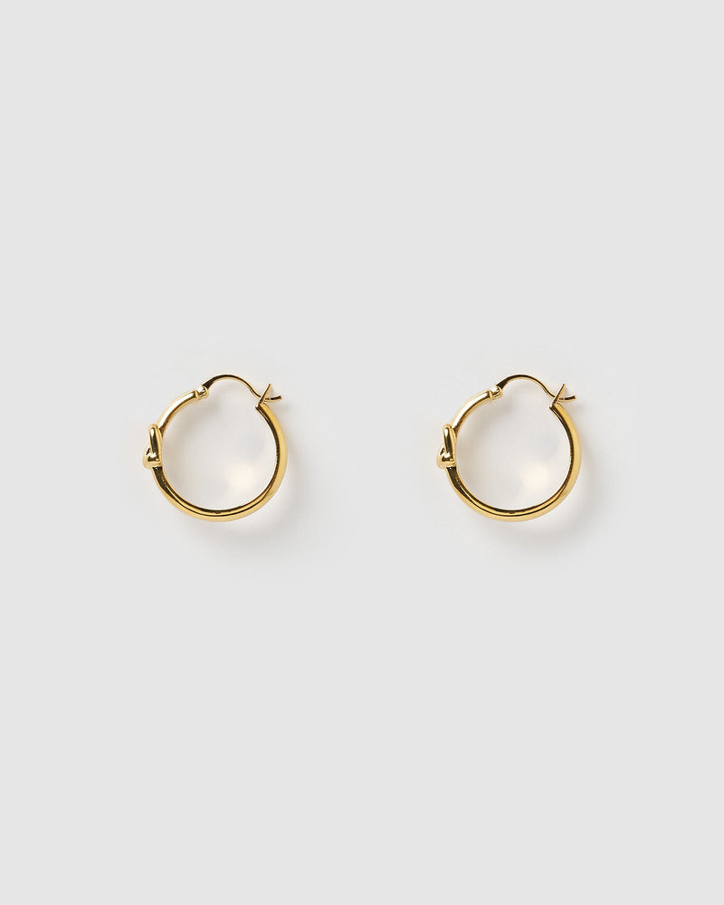 Izoa Rodeo Hoop Earrings Gold