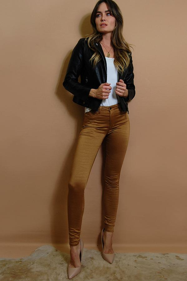 Load image into Gallery viewer, Refuge Gelato Legs Copper Skinny Leg Jean (Super Stretch - HIGH RISE)