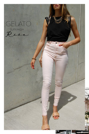 Load image into Gallery viewer, Refuge Supa Soft Pink High Rise Gelato Legs