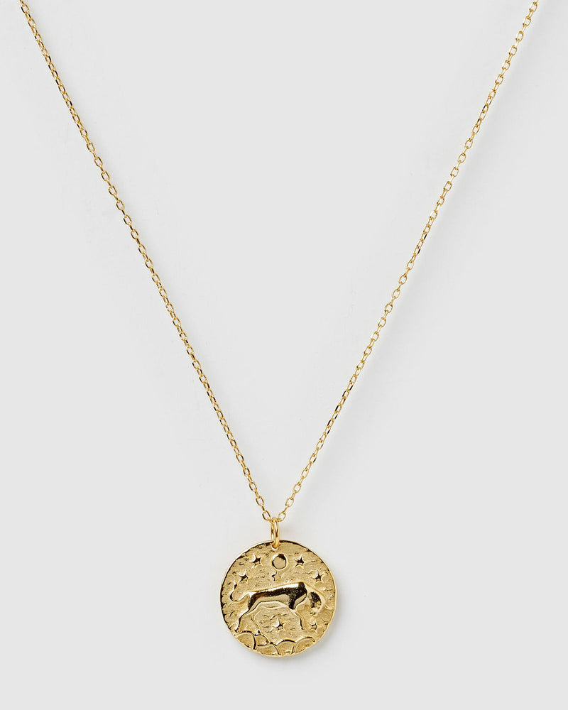 Load image into Gallery viewer, Izoa Star Sign Necklace Taurus Gold