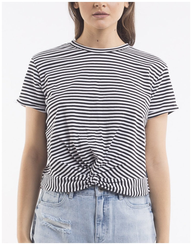Silent Theory TWINNED TEE Black White Stripe Australia