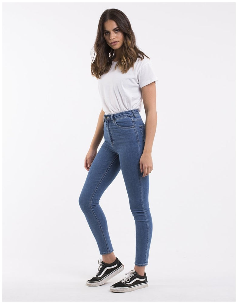 Silent Theory VICE HIGH RISE SKINNY JEAN BLUE BELL