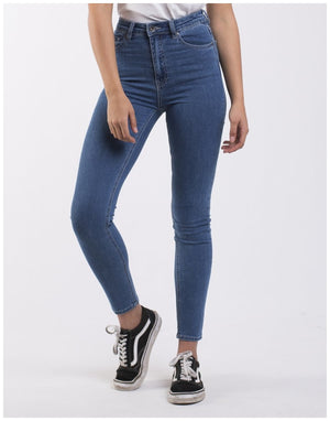 Load image into Gallery viewer, Silent Theory VICE HIGH RISE SKINNY JEAN BLUE BELL