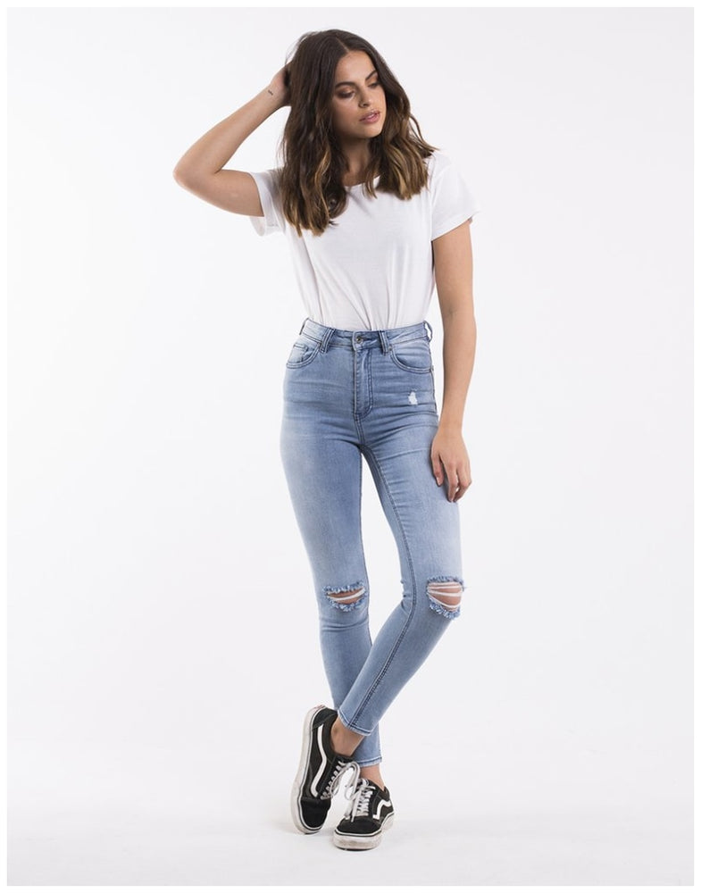 Load image into Gallery viewer, 6093131.DEN Silent Theory Vice Skinny Leg Indigo Blaze Jean High Waist