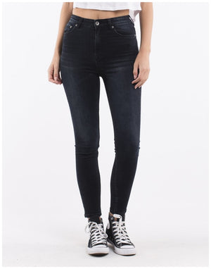 Silent Theory VICE HIGH RISE SKINNY JEAN PETROL