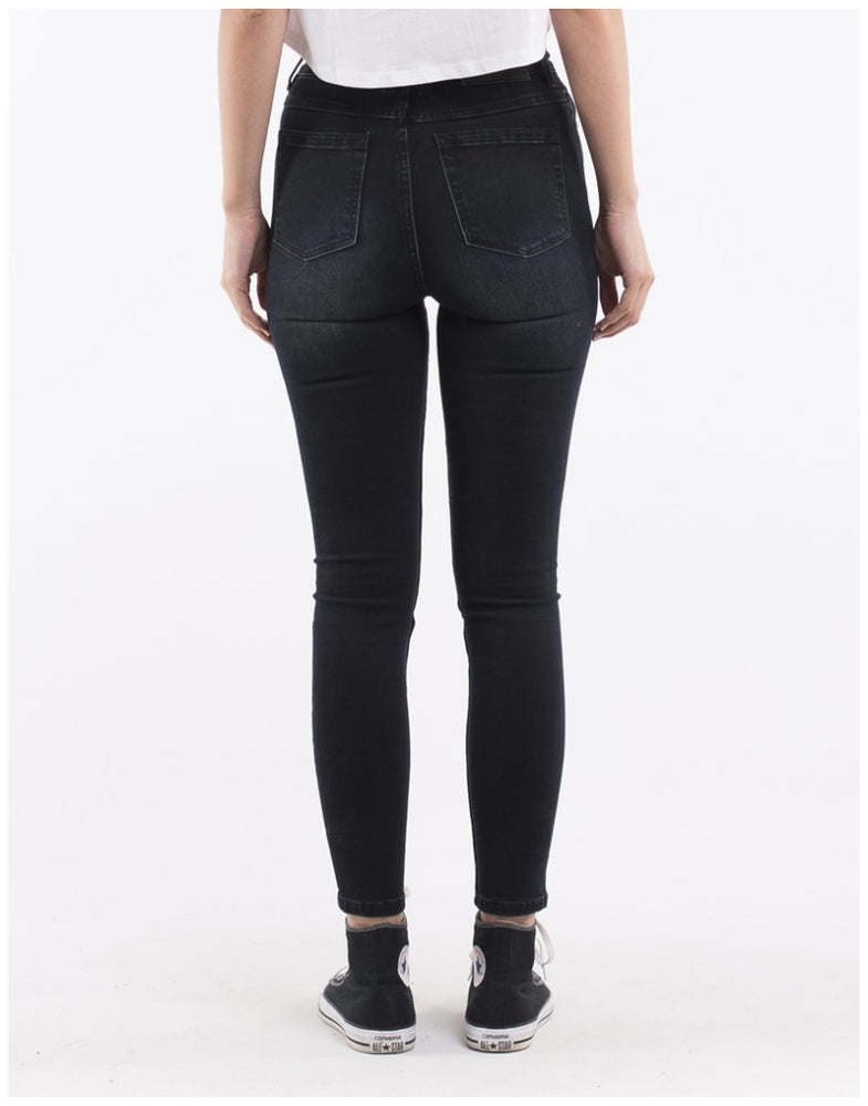 Silent Theory VICE HIGH SKINNY LEG JEAN PETROL