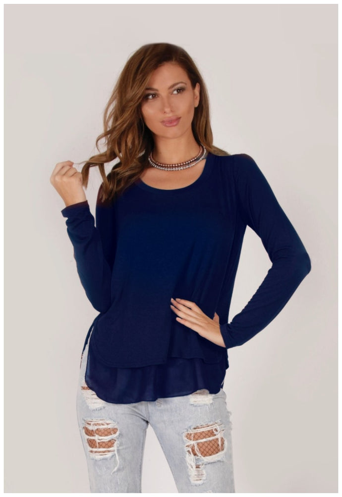 Veronica Back To Basics Jersey Top - Spicy Sugar