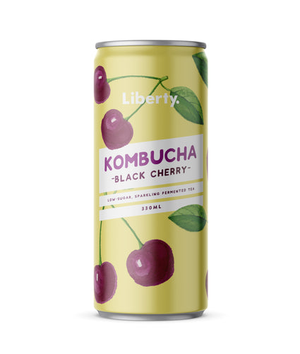 Liberty Kombucha Black Cherry Case (12 x 330ml cans)