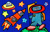 out of this world - kids placemats, activity mats for kids, tabletop for kids,original kids birthday presents,