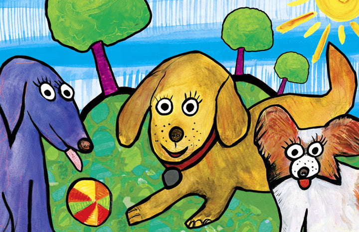 wagging tails and puppy dog tails - kids placemats, activity mats for kids, tabletop for kids,original kids birthday presents,