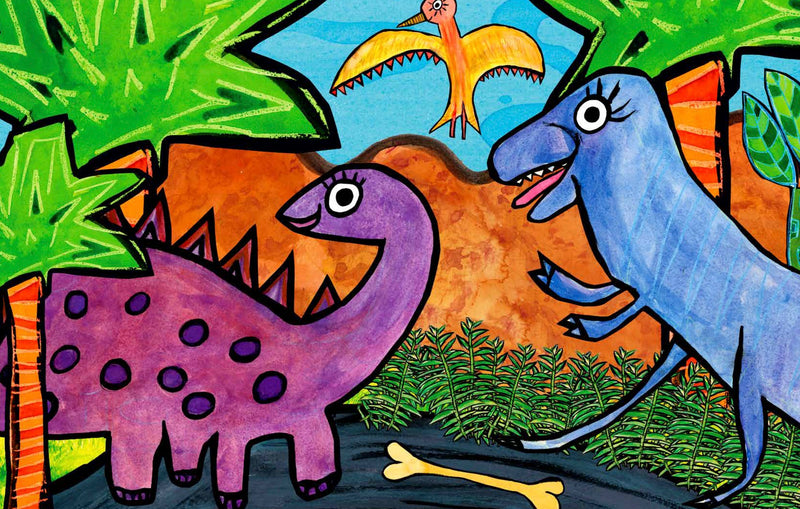 a long dino ago imagination mat