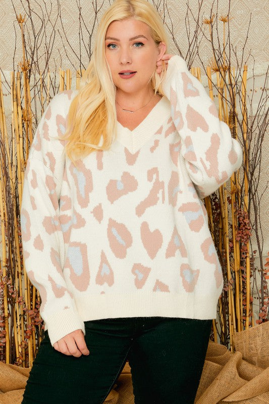One and Only Leopard Sweater