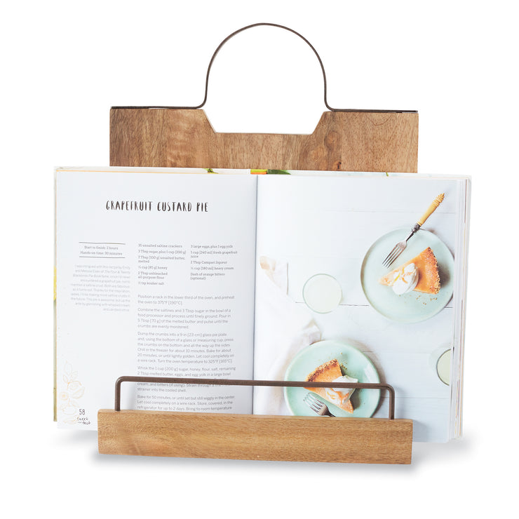 Wooden Bistro Cookbook Holder