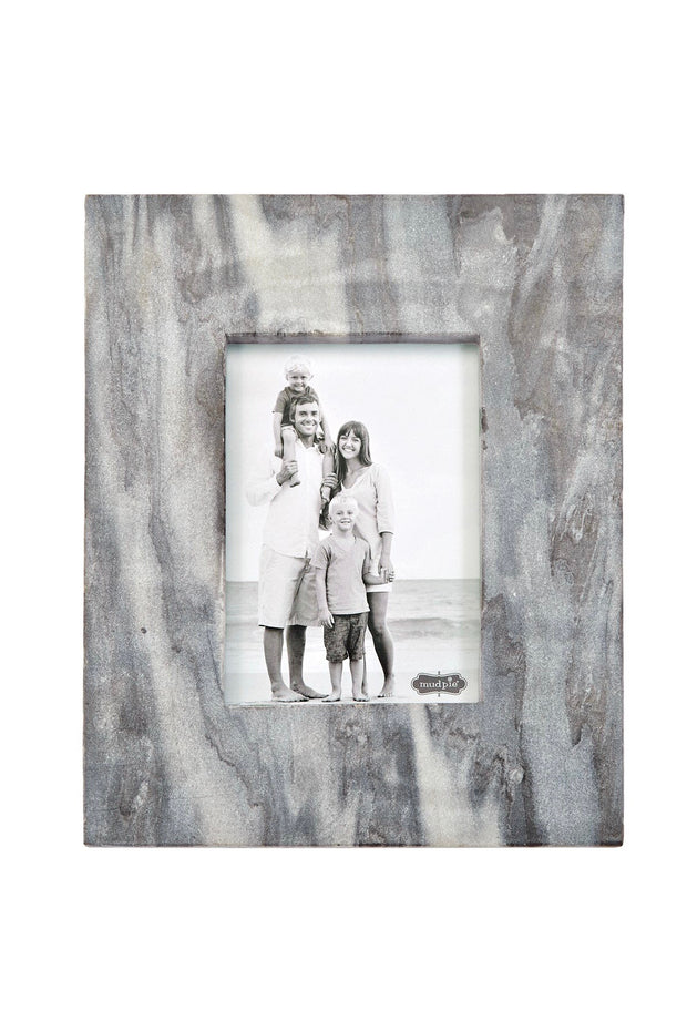 Large Gray Marble Raw Edge Frame