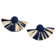 Raffia Fan Earrings