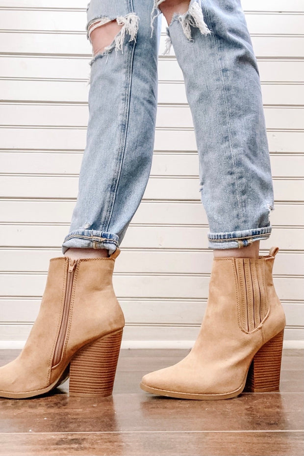 Sutton Suede Booties