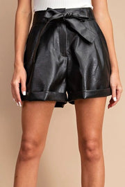 Leather Me Up Shorts