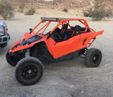 Orange Yamaha YXZ1000r with Krash Offroad custom YXZ roll cage lightbar mounted