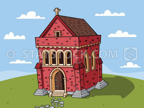 A cartoon abbey.