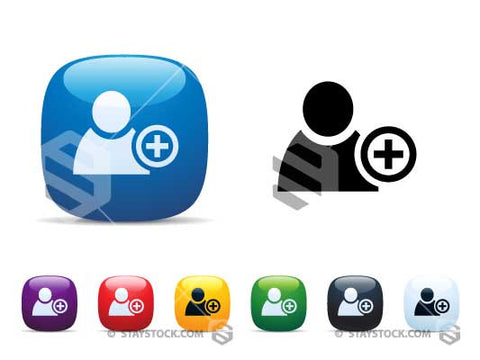Staystock - 'Add a person' icon set.