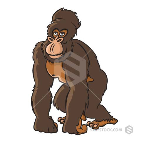 A great Ape cartoon character.