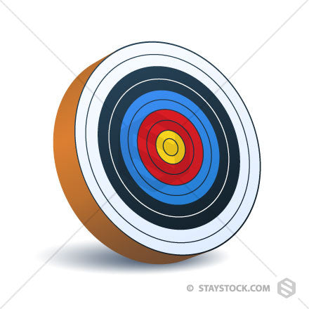 An Archery Target Icon at an angle.