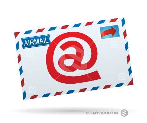 At Symbol Email Envelope