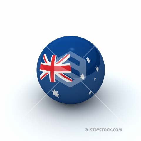 Staystock - Australia Flag Sphere 3D