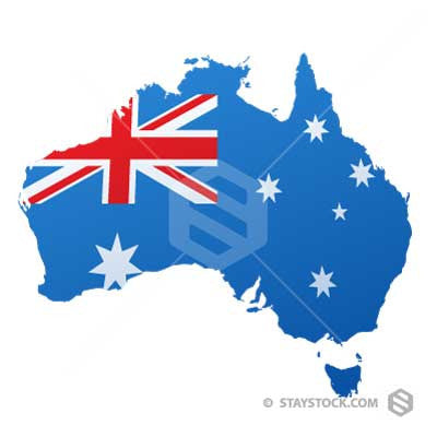 Staystock - Australian Flat Flag Map