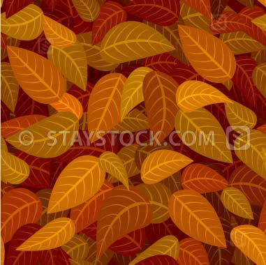 A seamless hedge background made from Autumn leaves
