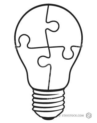 B&W Lightbulb Puzzle