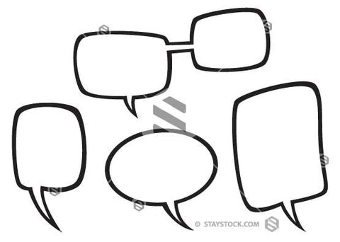 B&W Speech Bubbles