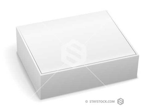 Blank White Box With Lid