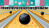 Cartoon bowling alley