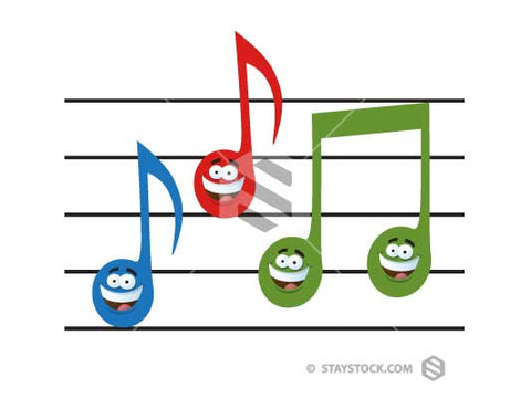 Bright Musical Note Cartoons